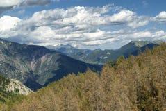 Col de Ла Couillole (француз Альпы) стоковая фотография