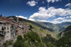 Col de Ла Couillole (француз Альпы) стоковое изображение