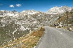 Col de l`Iseran. Road to Col de l`Iseran, Val-d`Isère, France Stock Images