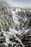 Col De Los angeles Givrine 1228 m Jest wysokiej góry przepustka w jur górach w kantonie Vaud w Szwajcaria fotografia royalty free