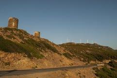 Col De Los angeles Sierra, Haute Corse, przylądek Corse, Corsica, Górny Corsica, Francja, Europa, wyspa zdjęcie royalty free