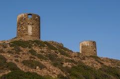 Col De Los angeles Sierra, Haute Corse, przylądek Corse, Corsica, Górny Corsica, Francja, Europa, wyspa zdjęcie stock