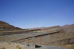 Col de Ouane, трасса R704, дорога тысячи kasbah стоковое изображение