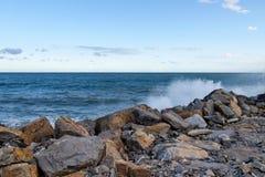 2013_Col di Nava - Ligurian coast. Italy - Mediterranean. Ligurian coast, the port Oneglia Royalty Free Stock Image