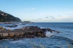 2013_Col di Nava - Ligurian coast. Italy - Mediterranean. Ligurian coast, the port Oneglia Royalty Free Stock Photo