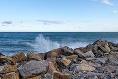 2013_Col di Nava - Ligurian coast. Italy - Mediterranean. Ligurian coast, the port Oneglia Stock Photography