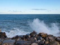 2013_Col di Nava - Ligurian coast. Italy - Mediterranean. Ligurian coast, the port Oneglia Royalty Free Stock Images
