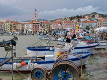 Col di Nava - Ligurian coast Royalty Free Stock Photography
