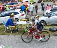 The Cyclist Julian Arredondo Moreno - Tour de France 2015. Col du Glandon, France - July 24, 2015: The Colombian cyclist Julian Arredondo Moreno of Trek Factory Royalty Free Stock Image