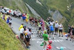 The Cyclist Dan Martin - Tour de France 2015. Col du Glandon, France - July 24, 2015: The Irish cyclist Dan Martin of Cannondale-Garmin Team,climbing the road to Stock Images