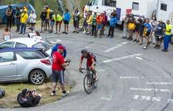 The Cyclist Samuel Sanchez - Tour de France 2015 Royalty Free Stock Photo