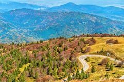 The Col du Grand Ballon, a mountain pass in the Vosges Mountains - Alsace, France. The Col du Grand Ballon, a mountain pass in the Vosges Mountains - Haut-Rhin Stock Images