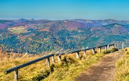The Col du Grand Ballon, a mountain pass in the Vosges Mountains - Alsace, France. The Col du Grand Ballon, a mountain pass in the Vosges Mountains - Haut-Rhin Stock Photography