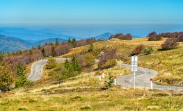 The Col du Grand Ballon, a mountain pass in the Vosges Mountains - Alsace, France. The Col du Grand Ballon, a mountain pass in the Vosges Mountains - Haut-Rhin Stock Photo