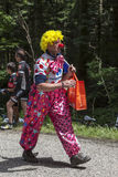 Funny Character on the Road of Le Tour de France royalty free stock image