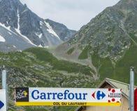 Col du Lautaret - Тур-де-Франс 2014 стоковые изображения rf
