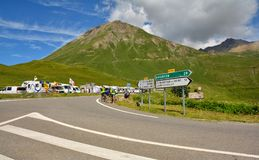 Col Du Lautaret, Francja fotografia royalty free