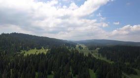 Col Du Marchairuz El 1447 m Jest wysokiej góry przepustka w jur górach w kantonie Vaud w Szwajcaria zbiory