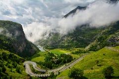 Col Du Mont Cenis, Francja obrazy stock