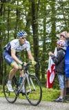 Col du Platzerwasel Мэтью Hayman велосипедиста взбираясь - путешествуйте de Стоковая Фотография