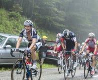Col du Platzerwasel - Тур-де-Франс Тома Dumoulin велосипедиста взбираясь Стоковые Фото