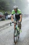 Col du Platzerwasel Maarten Wynants велосипедиста взбираясь - путешествие Стоковое Фото