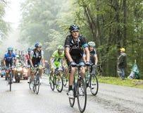 Col du Platzerwasel Pate Дэнни велосипедиста взбираясь - путешествуйте de Fr Стоковая Фотография