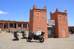 Col du Tichka, Morocco. Tizi n'Tichka is a mountain pass in Morocco, linking the south-east of Marrakesh to the city of Ouarzazate through the High Atlas Stock Images