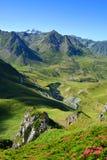 Col du Tourmalet в горах Пиренеи r стоковая фотография