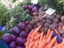 Col púrpura, rábano negro, zanahoria y verdes en bazar de la comida en el pavo de Estambul Imagen de archivo