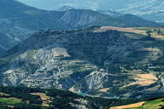 Col-Saint-Jean (France), mountain landscape Stock Photos