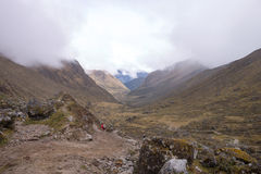 Col at the salcantay trail at ca. 4600 meters royalty free stock photos