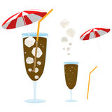 Cola. With a little red umbrella vector illustration