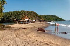 Cola Beach, South Goa, India Royalty Free Stock Photos