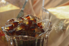 Cola Bottle Gummy Candies Royalty Free Stock Image