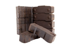 Cola briquettes on white background Stock Image