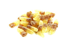 Cola Candy. Gummies Isolated on a White Background Stock Photos