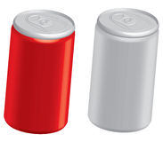 Cola cans. A couple of 3d soft drink cans vector illustration