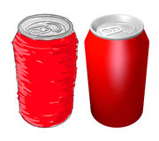 Cola cans design Stock Image