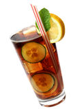 Cola Cocktail. With lemon and mint garnish Royalty Free Stock Photos