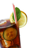 Cola Cocktail. With lemon and mint garnish Royalty Free Stock Photo