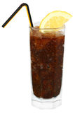 Cola cocktail with crushed ice. In a glass Stock Images