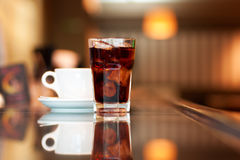 Cola and coffee Stock Photos