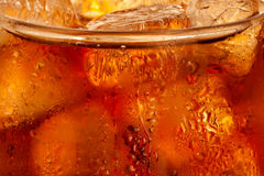 Cola com gelo Fotografia de Stock
