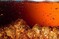 Cola con ghiaccio. Fotografia Stock