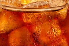 Cola con ghiaccio Fotografia Stock
