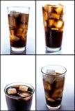 Cola con ghiaccio Immagine Stock