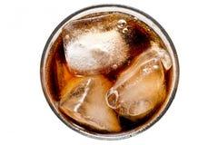 Cola con hielo Imagen de archivo libre de regalías