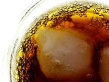 Cola con los cubos de hielo Imagen de archivo libre de regalías