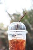 Cola congelada no vidro Imagens de Stock